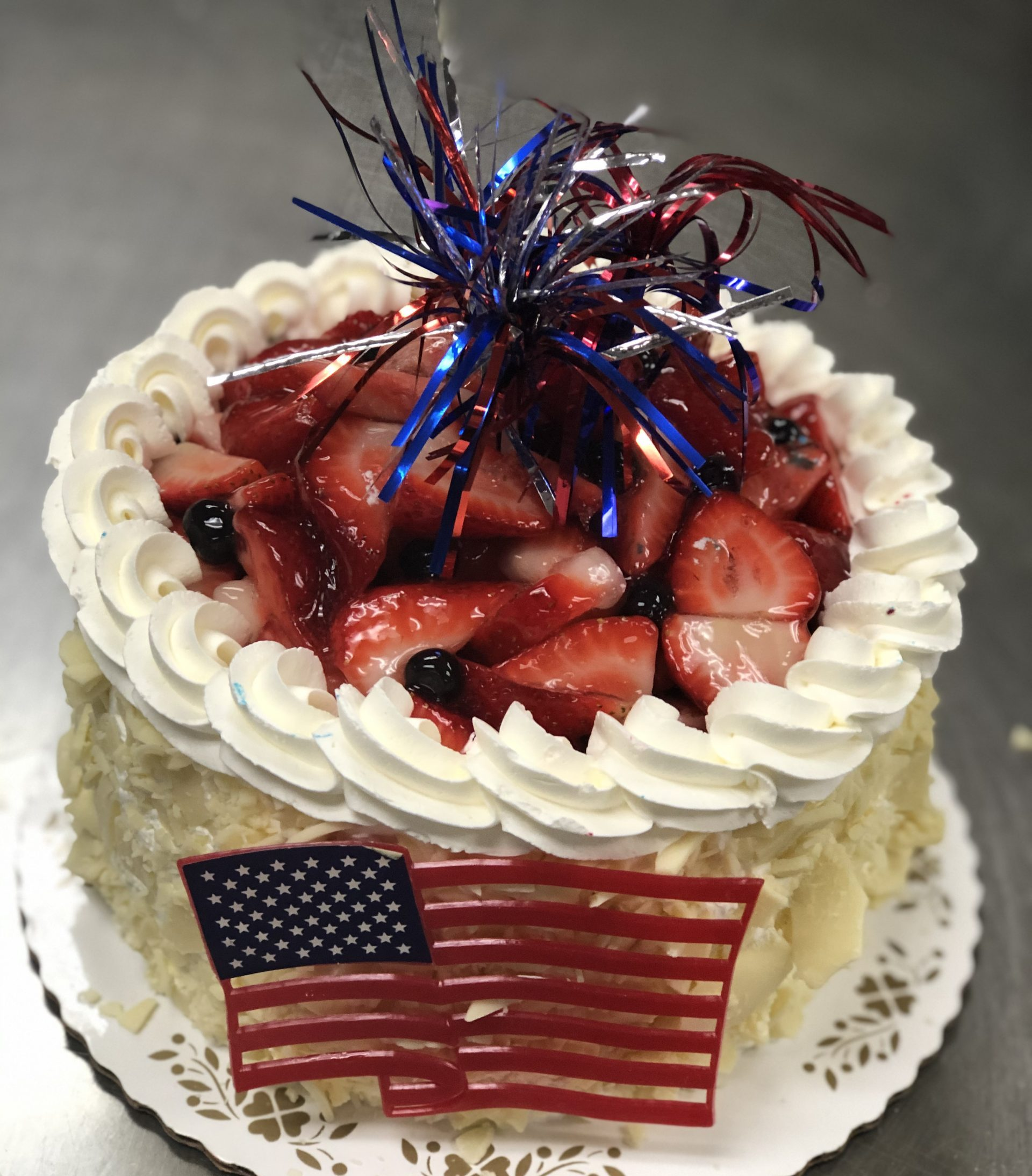 4th Sp: Fresh Fruit and Whipped Cream Cake