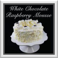 "7"" White Chocolate Mousse w/ Rasp Jam Cake"