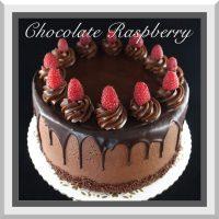 """10"""" Dark Chocolate Raspberry"""