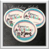 White Chocolate Label: Happy Birthday