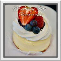 "3"" Blueberry Jam Cheesecake"