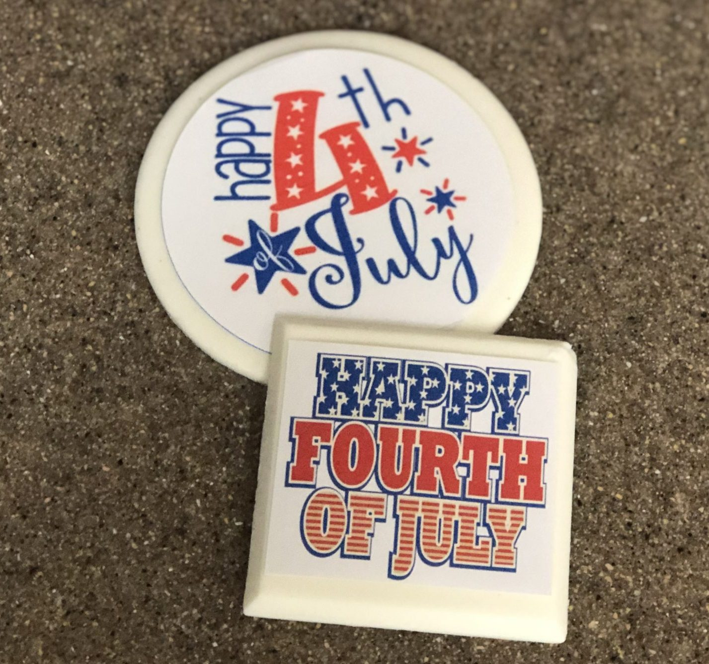"""""""Happy 4th of July"""" WC Label"""