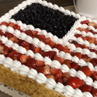US Flag Cake